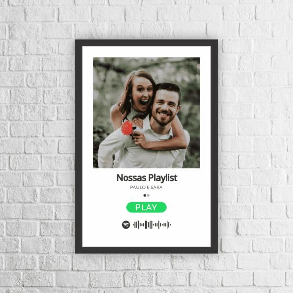 Quadro Personalizado Spotify Playlist - 301