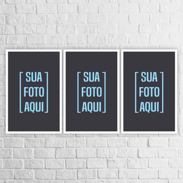Kit 3 Quadros com a Sua Foto - 903