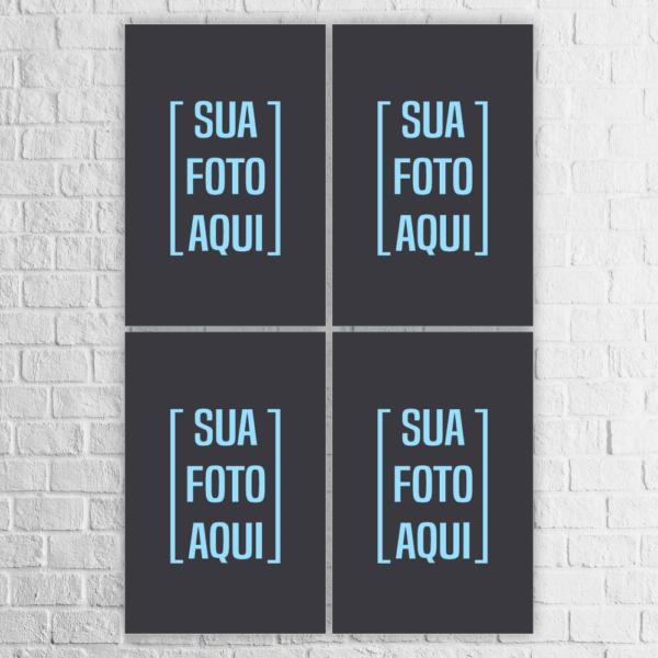 Kit 4 Quadros com a Sua Foto - 904