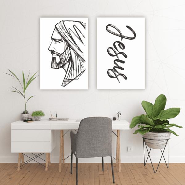 Quadro Jesus Minimalista - 4526