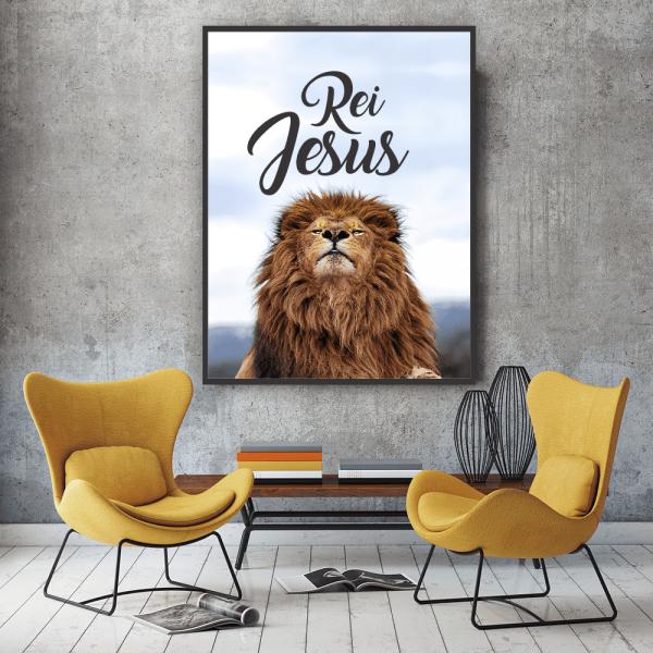 Quadro Rei Jesus Leão - 4533