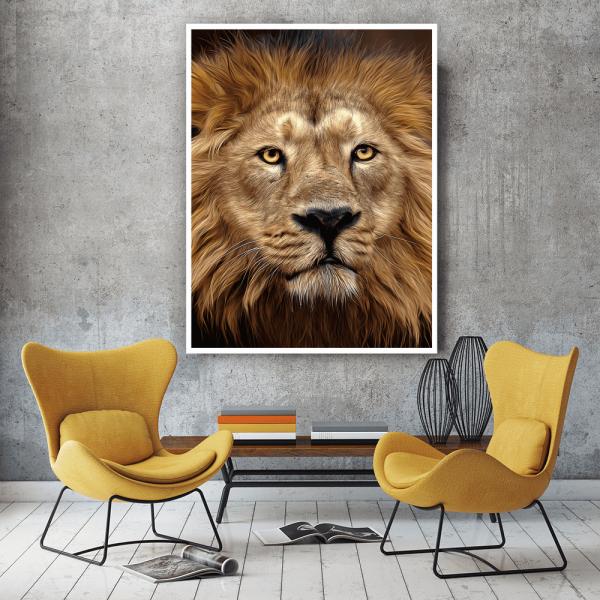 Quadro Pintura Leão - 6763